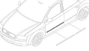 Original Audi A4 (8E) Seat Exeo Türleiste vorn Schutzleiste