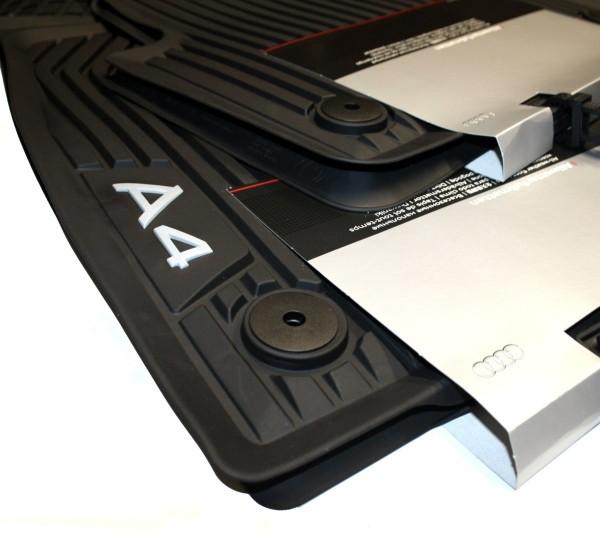 Original Audi A4 B9 8W Fußmatten Gummi Premium Gummimatten Allwetter, vorn & hinten