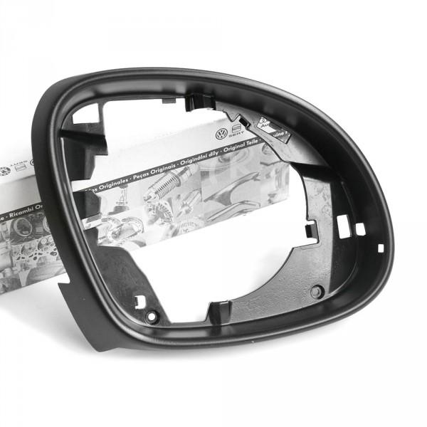 Original VW Seat Blende rechts innen Spiegelrahmen Außenspiegel satinschwarz
