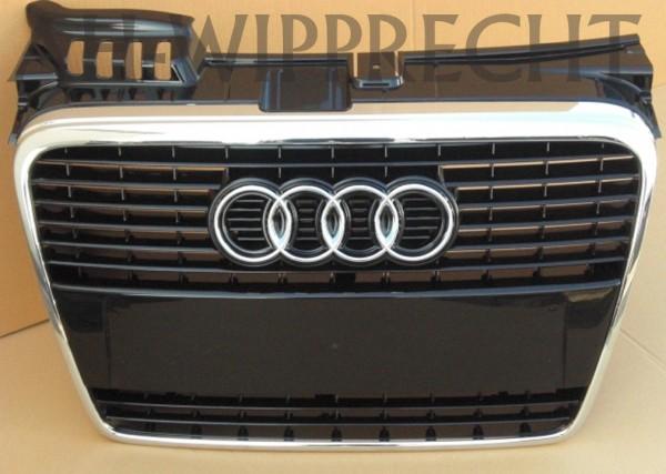 Original Audi A4 8E B7 S-Line Kühlergrill S4 Chrom glänzend Klavierlack schwarz