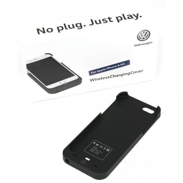 Wireless Charging Cover Original VW Adapter für Apple iPhone 6/6S Ladestation