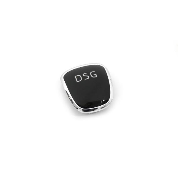 DSG Plakette Schaltknauf Blende Clip chrom schwarz 5E0713146A