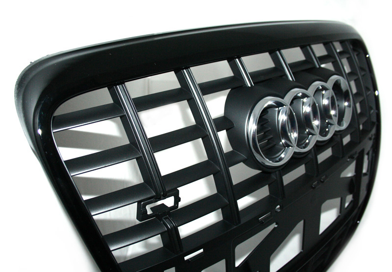k hlergrill audi s6 original a6 4f tuning grill schwarz. Black Bedroom Furniture Sets. Home Design Ideas