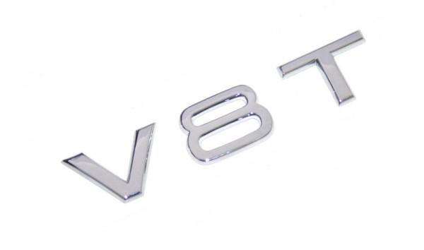 Schriftzug V8T Original Audi Tuning Emblem Kotflügel Typzeichen Chrom