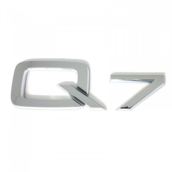 Original Audi Schriftzug Q7 Emblem Logo Aufkleber Modellbezeichnung chrom glänzend 4M08537412ZZ