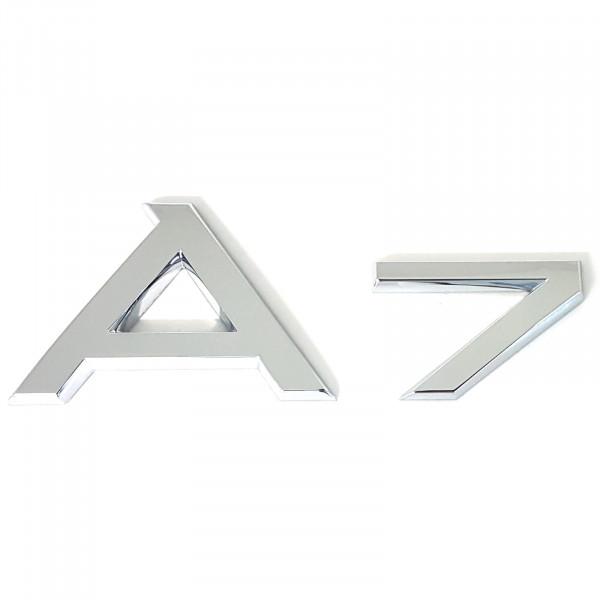 Original Audi Schriftzug A7 Emblem Logo Aufkleber Modellbezeichnung chrom glänzend 4G88537412ZZ
