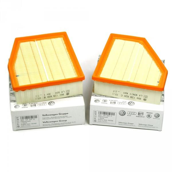Original VW Phaeton (3D) Luftfilter Set links rechts Service Luftfiltereinsatz Filter