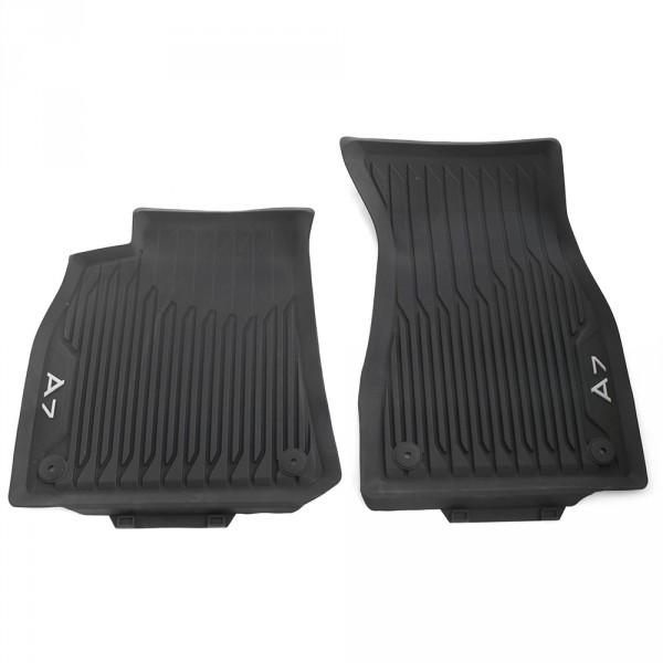 Original Audi A7 (C8 4K) Sportback Gummi Fußmatten vorn Gummimatten Allwettermatten schwarz