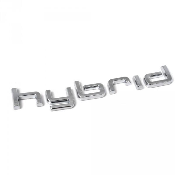 Original Audi Hybrid Schriftzug seitlich Exterieur Kotflügel Emblem Logo chrom