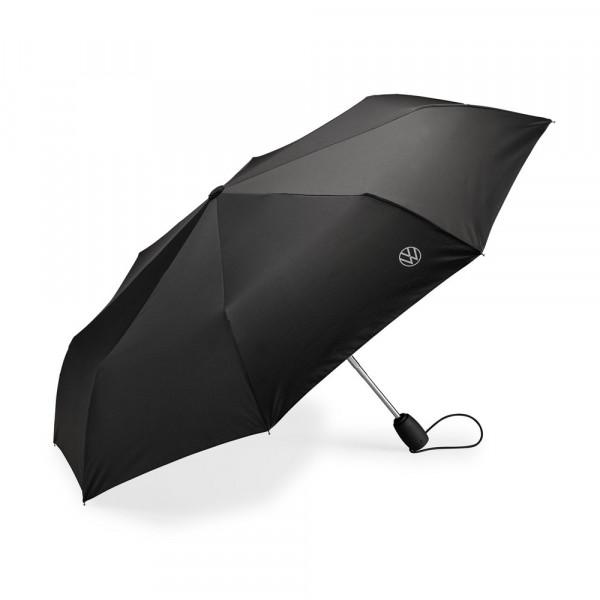Original Volkswagen Regenschirm Taschenschirm Schirm VW Logo schwarz 000087602P