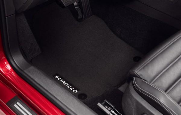 Original VW Premium Velours Fußmatten Scirocco schwarz vorn