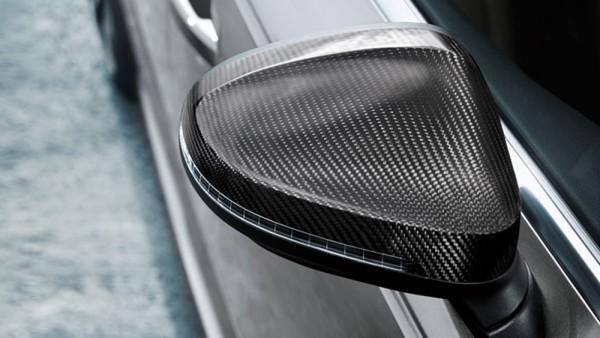 Original Audi A4 A5 (B9) Außenspiegelkappen Carbon Spiegelkappen Tuning Kappen Side Assist