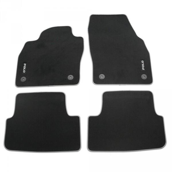 Original VW Polo 6 (2G) Premium Velours Textil Fußmatten schwarz 4-teilig
