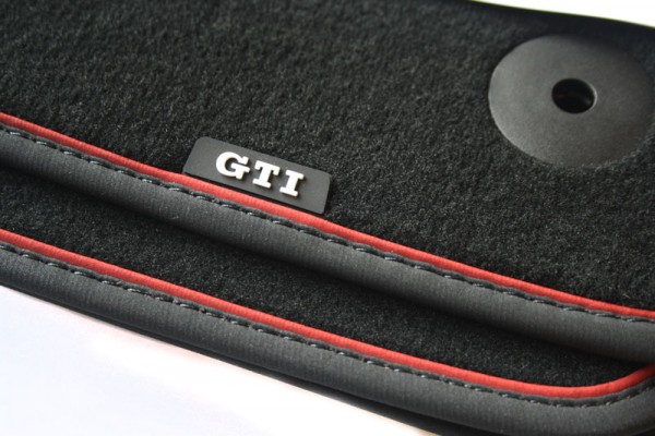 vw golf 7 vii fu matten velours gti design original. Black Bedroom Furniture Sets. Home Design Ideas