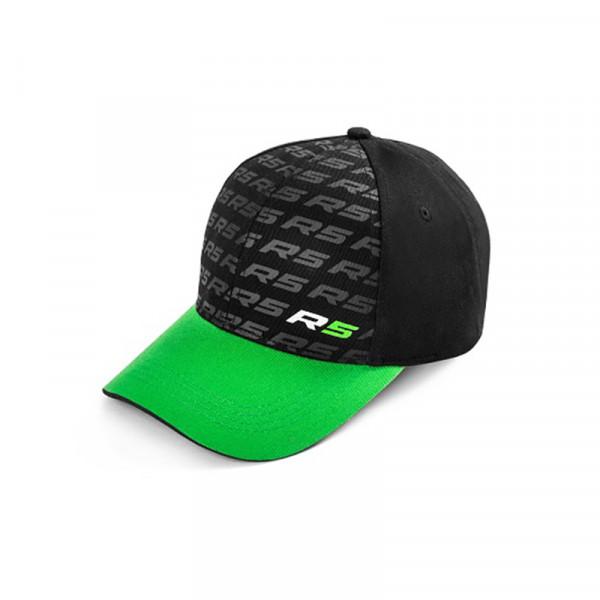 Original Skoda Baseballcap Motorsport R5 Cap Mütze Baseballcap Kappe schwarz/grün