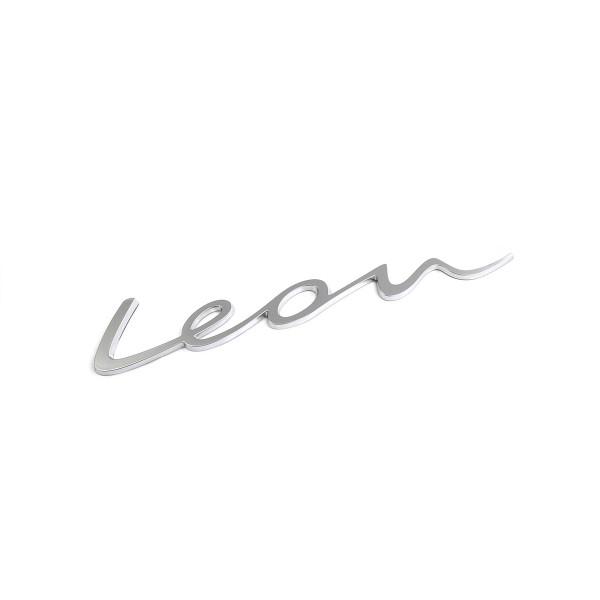 Original Seat Leon Schriftzug hinten Heckklappe Emblem Logo alu standard