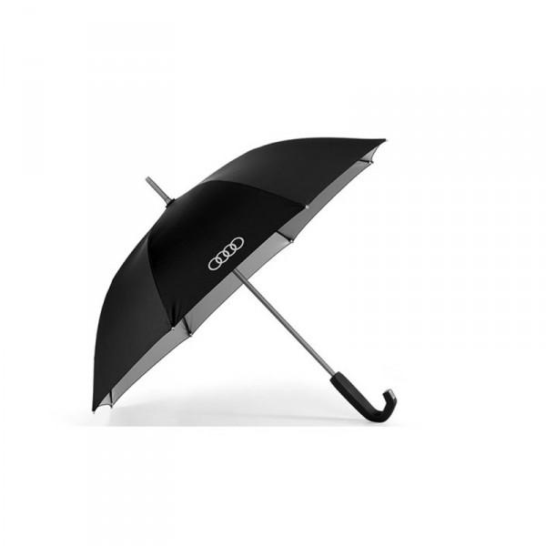 Audi Stockschirm klein Original Schirm Accessoires Regenschirm schwarz titan