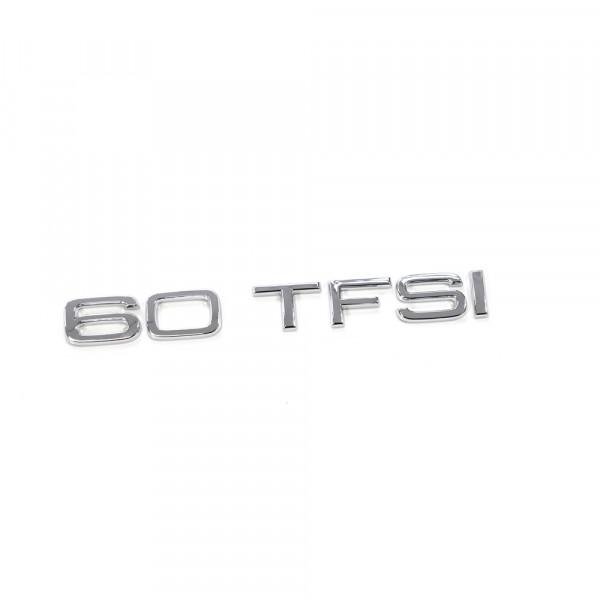Original Audi 60 TFSI Schriftzug hinten Heckklappe Emblem Logo chrom