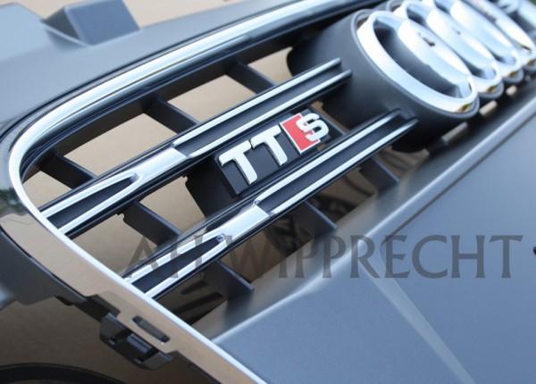 Original Audi TTS 8J Facelift Tuning Kühlergrill chrom / platiniumgrau