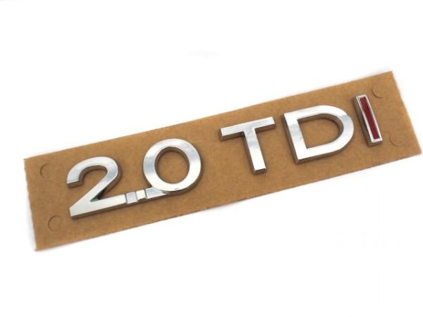 2.0TDI Schriftzug Aufkleber (zB Passat Touran Golf) rot