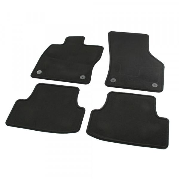 Original Seat Leon (5F) Velpic Textil Fußmatten Satz v+h Velours Matten schwarz