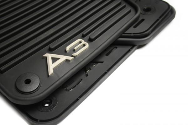"""Gummi-Fußmattensatz Original Audi A3 """"Monster Mat"""" vorn + hinten schwarz"""