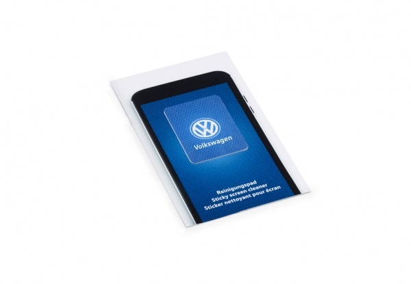 Reinigungspad Smartphone Tablet Original VW blau Mikrofaser