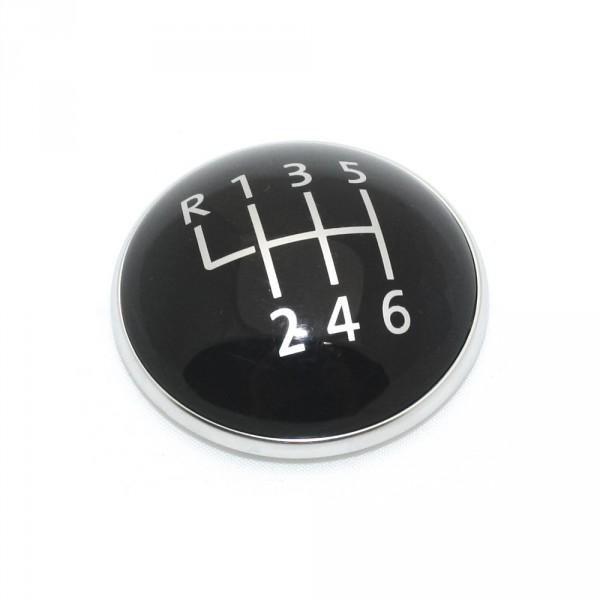 Plakette Schaltknauf 6-Gang (Dreipunkt) Original VW Schalthebel Emblem