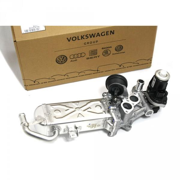 Kühler AGR Ventil Abgasrückführung Abgas-Ventil-Kühler Audi Seat Skoda VW