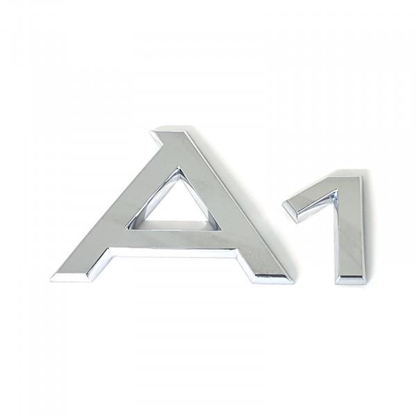 Original Audi Schriftzug A1 Emblem Logo Aufkleber Modellbezeichnung chrom glänzend 8X08537412ZZ