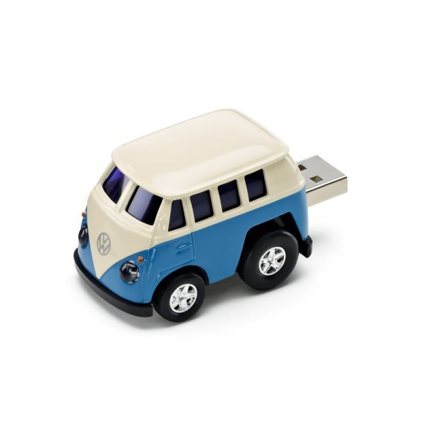 Original VW Bulli Spielzeugauto Bus blau USB Stick 8 GB