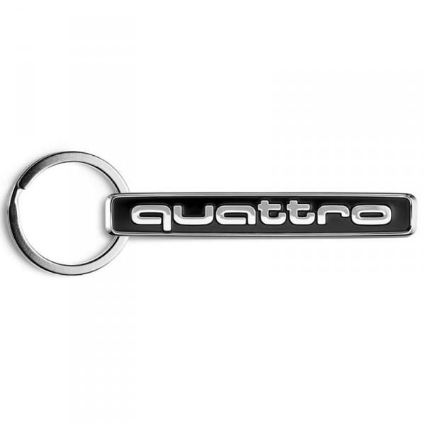 Original Audi Quattro Schlüsselanhänger Metall Anhänger Keyring Emblem Schlüsselband