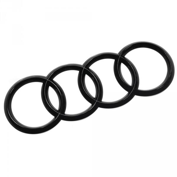 Original Audi Zeichen Heckklappe Ringe Black Edition Emblem Blackline Logo schwarz