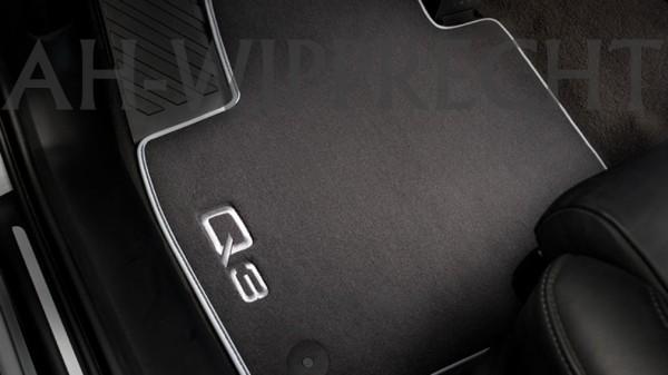 Original Audi Q3 8U Premium Fußmatten S-Line Matten Textil Stoffmatten Velours, vorn