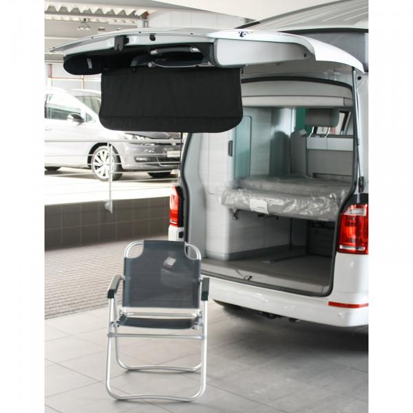 Original VW T6 Camper Heckklappenverkleidung Nachrüstung Klappsitz Heckklappe Sonnenschutzrollo