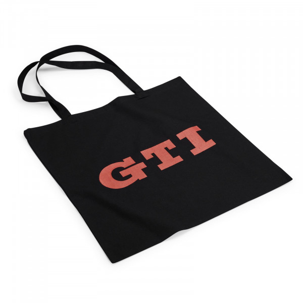 Original VW Tragetasche Einkaufsbeutel GTI Logo Tasche schwarz/rot 000087317BN