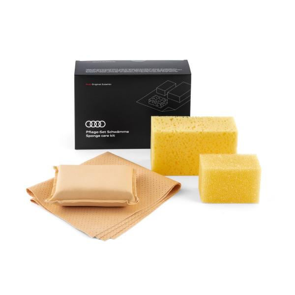 Original Audi Schwamm Pflege-Set Reinigungsschwämme 4L0096166