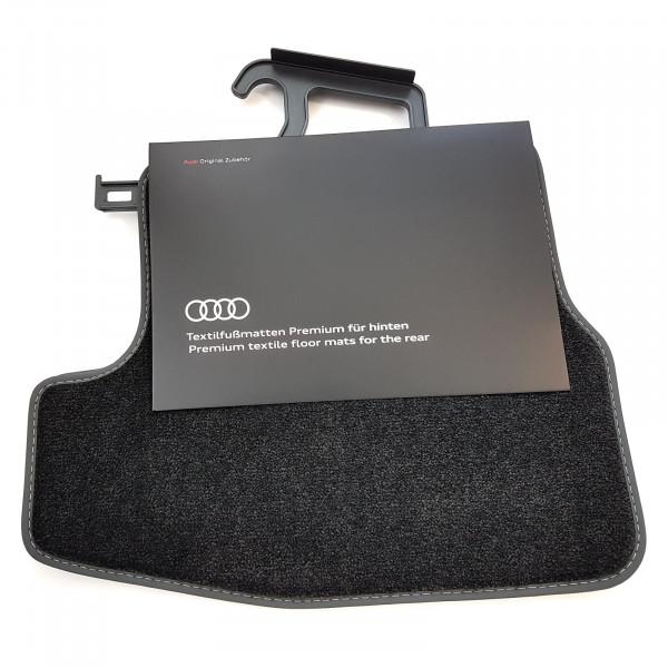 Original Audi A5 (B9) Cabrio Premium Velours Fußmatten Stoffmatten Textilfußmatten hinten