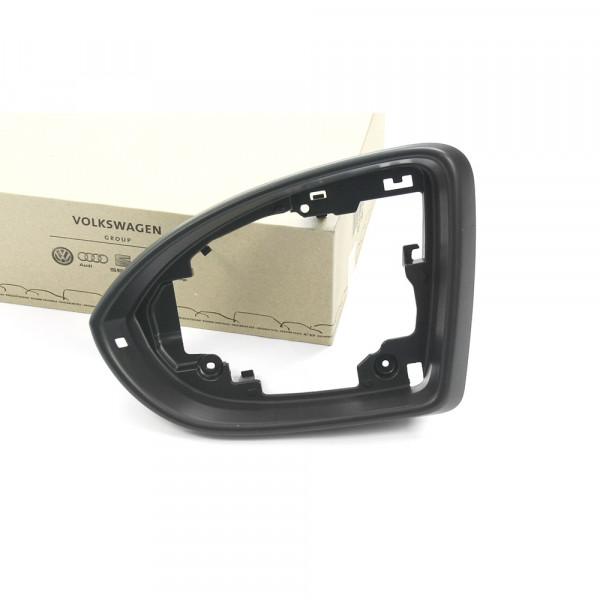 Original VW Spiegelrahmen links Blende Außenspiegel Rahmen satinschwarz