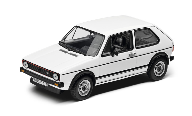 modellauto 1 43 vw golf gti 1973 weiss original. Black Bedroom Furniture Sets. Home Design Ideas