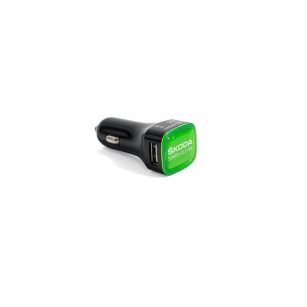Original Skoda Ladeadapter Car Charger schwarz USB Adapter Accessoires