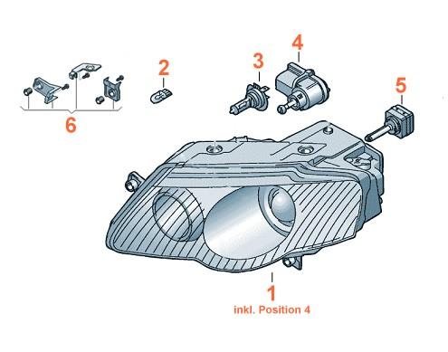 Xenon Scheinwerfer VW Passat 3C Original