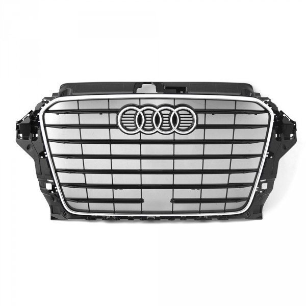Original Audi A3 (8V) Limousine S-Line Kühlergrill Exterieur Grill schwarz glänzend