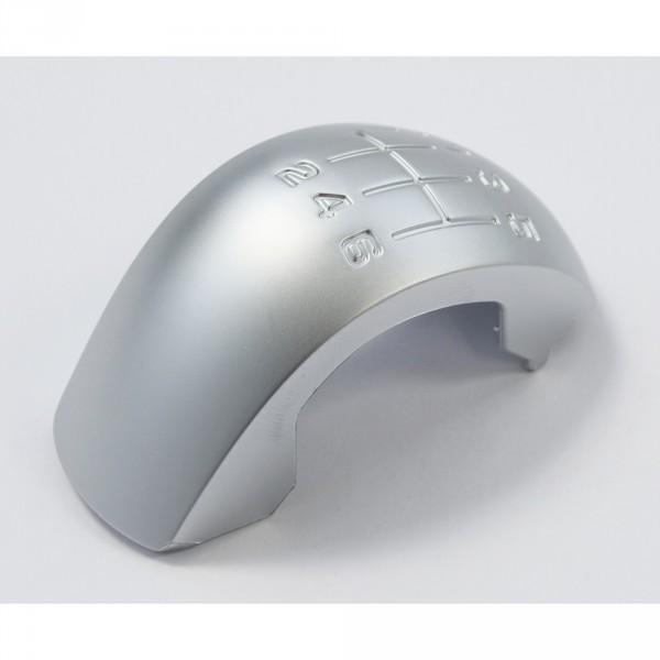 Original Skoda RS Plakette Schaltknauf 6-Gang Blende Clip Reparatursatz chrom matt