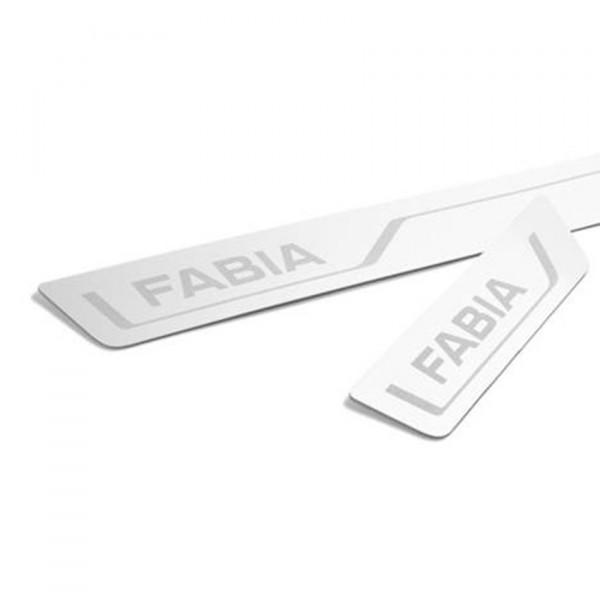 Original Skoda Fabia III (NJ) Einstiegsleisten Set Edelstahl vorn hinten Leisten