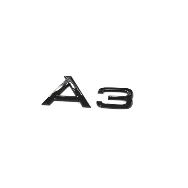 Original Audi A3 Schriftzug schwarz Tuning Exclusive Black Edition Emblem