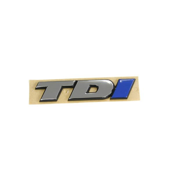 Original VW T4 TDI Schriftzug hinten Heckklappe Emblem Logo chrom/blau