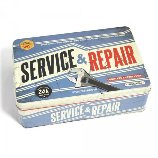 Vorratsdose Nostalgie Service & Repair Werkzeugkasten Metall Kasten