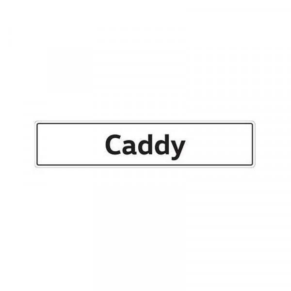 Original VW Kennzeichenschild Caddy Nummernschild Kennzeichen Typenschild 2K0071801B