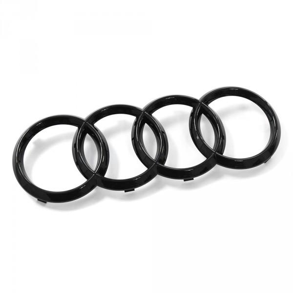 Original Audi Zeichen Kühlergrill Ringe Black Edition Emblem Blackline Logo schwarz